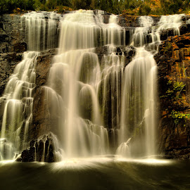 McKenzie Falls by Madhujith Venkatakrishna - Landscapes Waterscapes