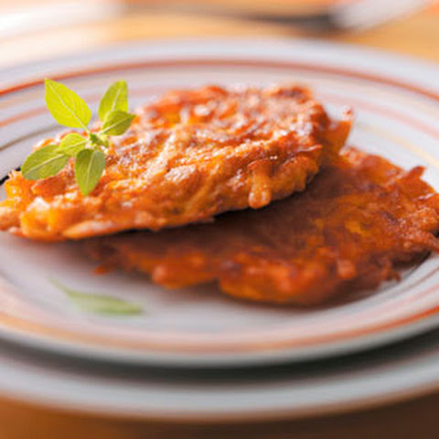 Curried Sweet Potato Latkes