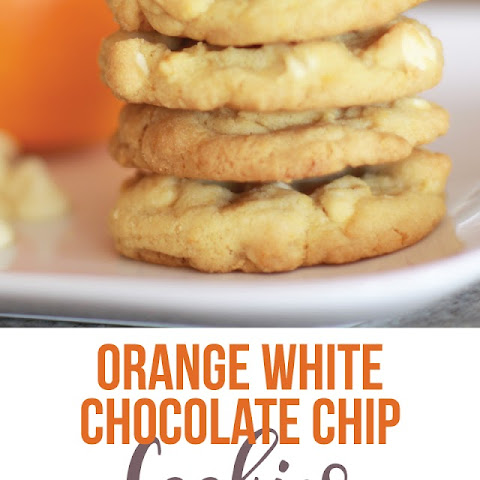 Orange White Chocolate Chip Cookies