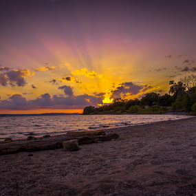 On the Beach by Dustin White - Landscapes Sunsets & Sunrises