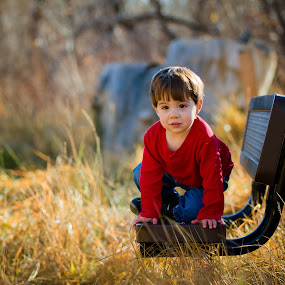 Benched in a Sea of Grass by Billy Brooks - Babies & Children Children Candids ( outdoors, pwcbenches-dq, boy )