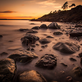Alby by John Einar Sandvand - Landscapes Waterscapes ( waterscape, sunset, sea, jeløya, landscape )
