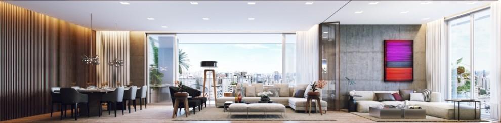 Perspectiva do Living Opção - 181 m²