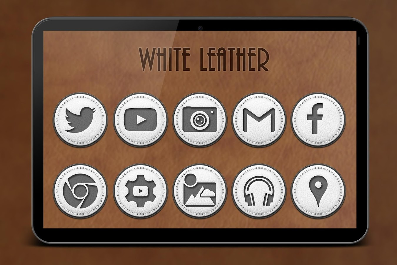 White Leather Icon Pack Screenshot 6