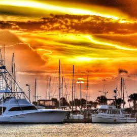A Port Aransas Sunset by Cathy Hood - Landscapes Sunsets & Sunrises