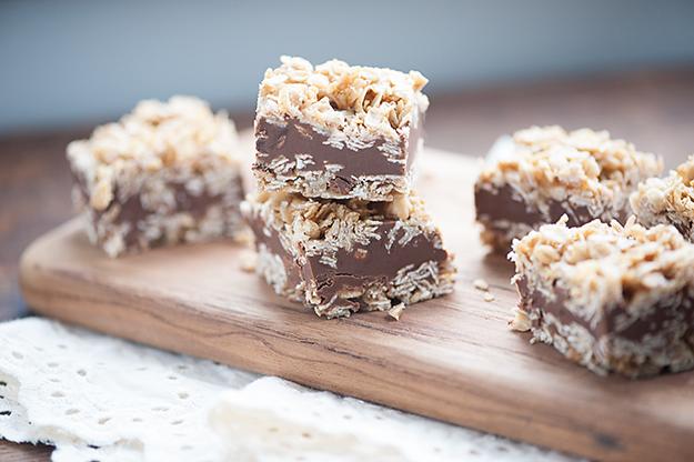 No Bake Chocolate Peanut Butter Oatmeal Bars Recipe   Yummly