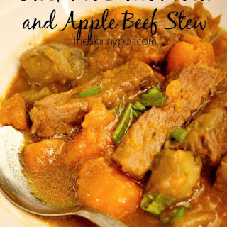 Crock Pot Sweet Potato and Apples Beef Stew