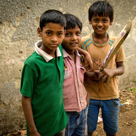 Budding Cricketeers by Prasanta Das - Babies & Children Children Candids ( cricketeers, boys, budding, young )