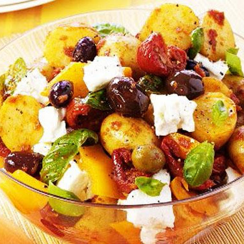 Mediteranean Potato Salad with Olives and Feta