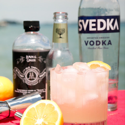 Lemon Ginger Vodka Cocktail