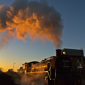 Steam train G by Trippie Visser - Transportation Trains