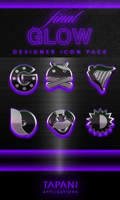 icon pack HD 3D glow purple Screenshot 0