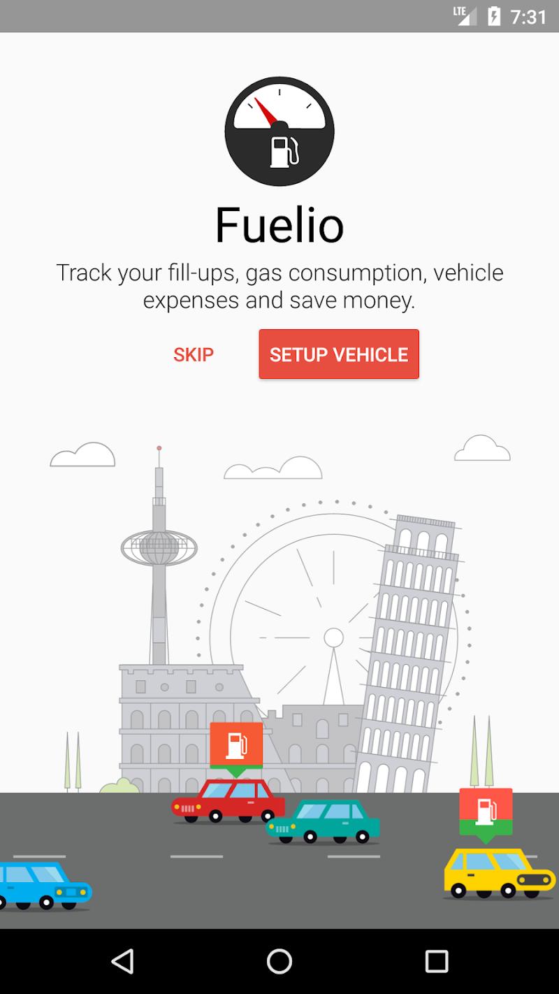 Fuelio: Gas log & costs Screenshot 0