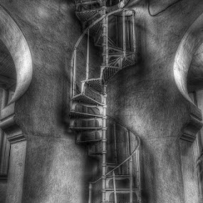 Stair Up by Abu bakar Mohd tajudin - Buildings & Architecture Other Interior ( interior, stair, b&w, hdr, fine art )