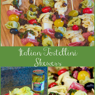 Italian Tortellini Skewers with Balsamic Drizzle