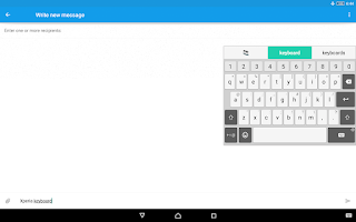 Screenshot of Xperia Keyboard