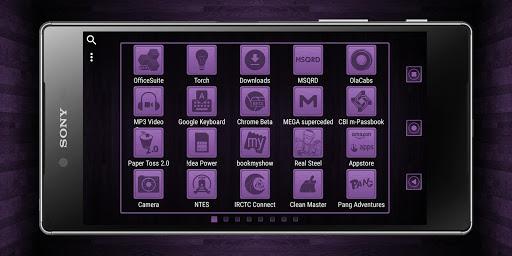 Wooden Icons Violet XZ Theme - screenshot