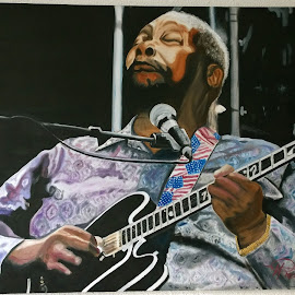 BB King by Paul Preston - Painting All Painting