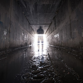 Apparition by Givanni Mikel - Abstract Light Painting ( figure, ghost, light, apparition, tunnel )