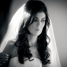 Stunning Bride by Paul Duane - Wedding Bride ( wedding photography, black and white, wedding, beauty, bride )