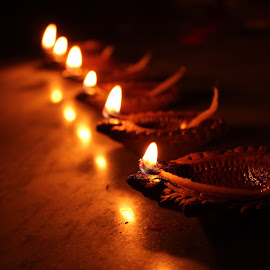 by Saurabh Anand - Uncategorized All Uncategorized ( #diwali, #festival, #diya, #indian, #rows,  )
