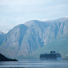 Cruising at fjords by Sanil Photographys - Transportation Boats ( mountain, nature, ship, cruise, norway, fjord )