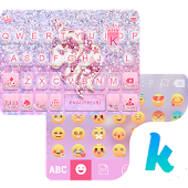 App Glitter Unicorn KikaKeyboard version 2015 APK