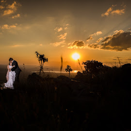 View from the Top by Lood Goosen (LWG Photo) - Wedding Bride & Groom ( wedding photography, wedding photographers, wedings, brides, wedding dress, wedding photos, love, forever, wedding, wedding day, sunset, wedding photographer, bride and groom, bride, groom, bride groom )