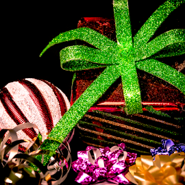 Presents and Bows by Anthony Balzarini - Public Holidays Christmas ( #presents, #decorations, #holiday, #photography, #bows, #christmas,  )
