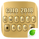 3D Gold 2018 GO Keyboard Theme 4.5 APK Download