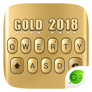 3D Gold 2018 GO Keyboard Theme