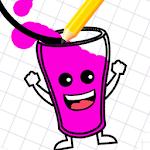 Happy Milkshake Glass Icon