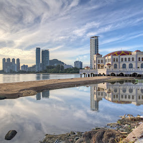 Floating Mosque - Reflection by Danny Tan - Landscapes Cloud Formations