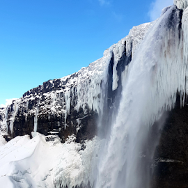 by Andrew Linstead - Instagram & Mobile Android ( water, iceland, waterscape, ice, snow, waterfall )