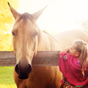 A Girl and Her Horse by Leigh Frudiger-Vanderland - Babies & Children Children Candids