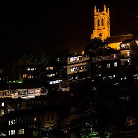 Shimla in Night by Swapnil Keshari - Buildings & Architecture Homes ( bestoftheday, dark, night, pickofftheday, homes, shimla )