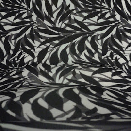 Black and White Floral by Kay Page - Abstract Patterns ( abstract, black and white, pixoto, lines, print )
