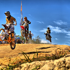 jump together by Handy Nordy Fariza - Sports & Fitness Motorsports ( grasstrack, fly, racing, sport, jump )