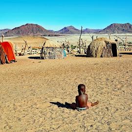 by Doug Hilson - Babies & Children Children Candids ( africa, tribal, desert, village, child )