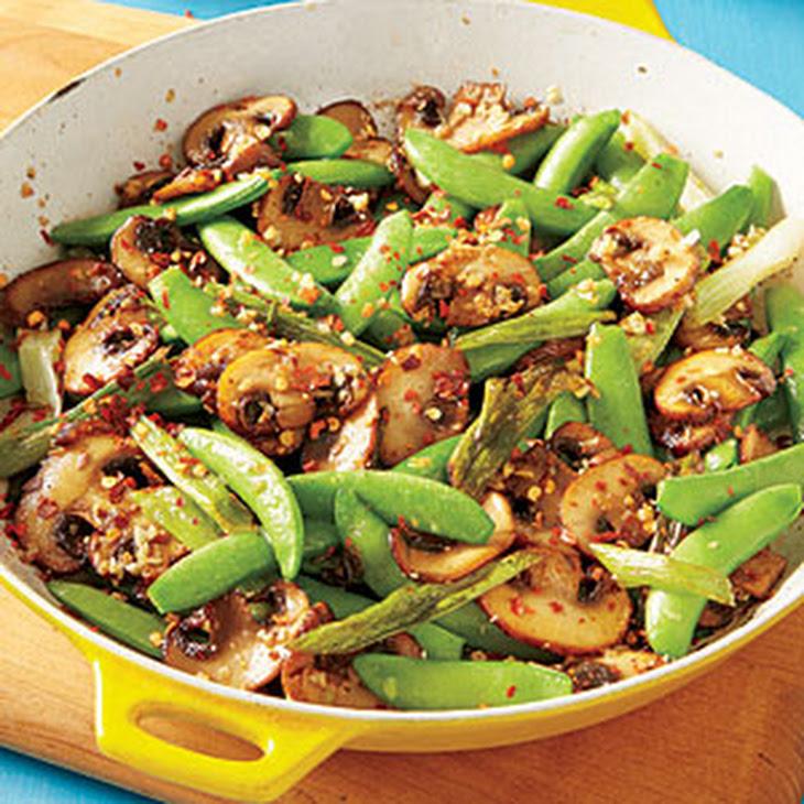 Sugar Snap Pea and Mushroom Sauté Recipe | Yummly