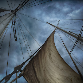Mandalays Sails by Tom Reiman - Transportation Boats ( sailing, sv mandalay, sail boat, caribbean )