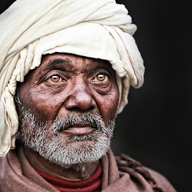 The Glance by Pronab Kundu - People Portraits of Men ( face, indian )