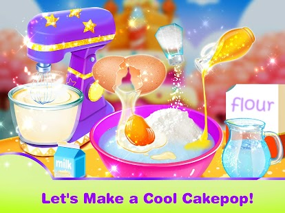 Unicorn Cake Pop Maker–Baking Games