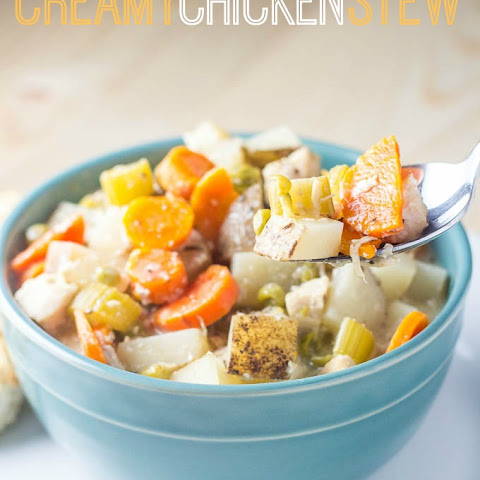 Slow Cooker Creamy Chicken Stew