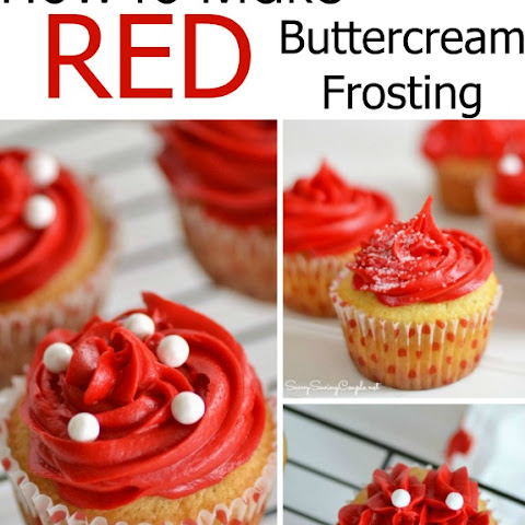 Red Buttercream Frosted Valentine's Day Cupcakes