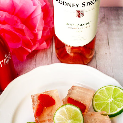 Rosé Strawberry Lime Jello Shots