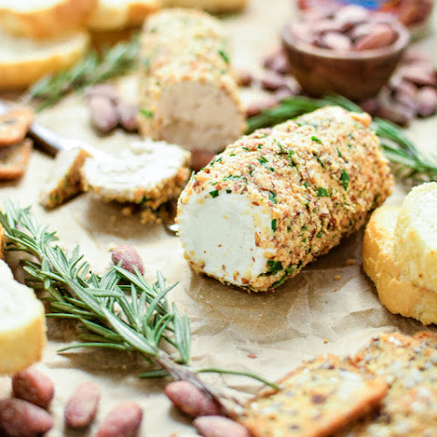 Almond and Herb Crusted Goat Cheese