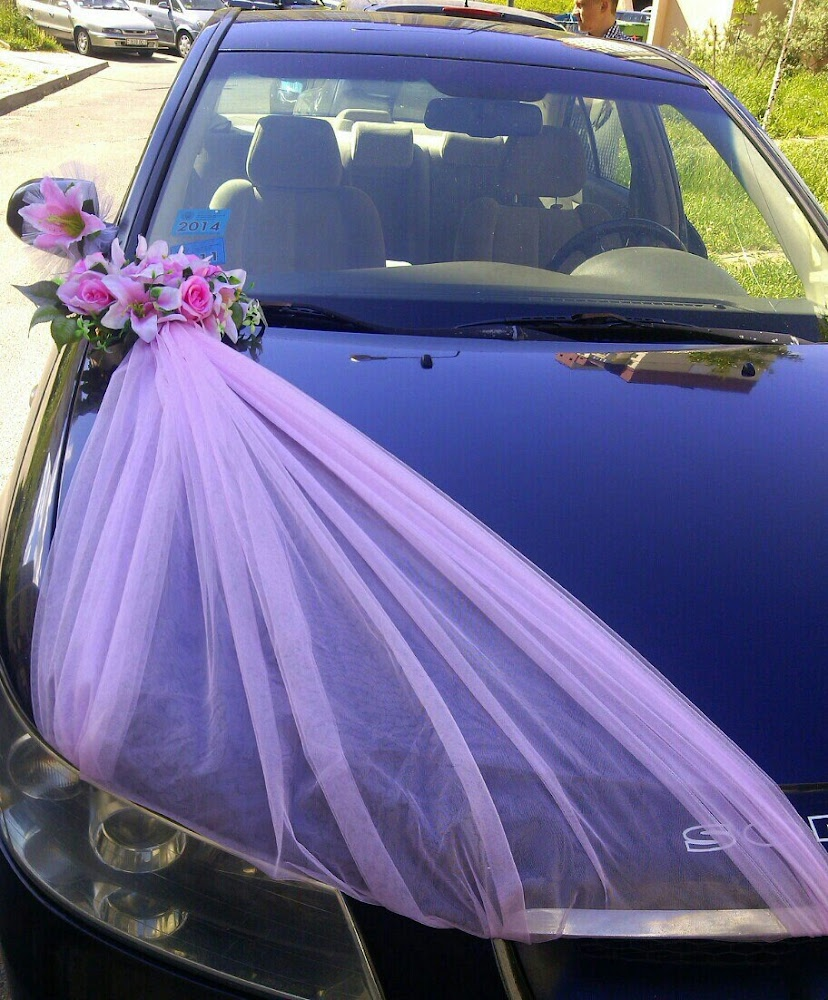 Свадебные украшения на машину своими руками. Как украсить машину на