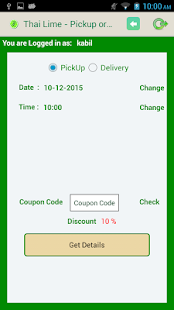 ThaiLime Online Ordering App - screenshot