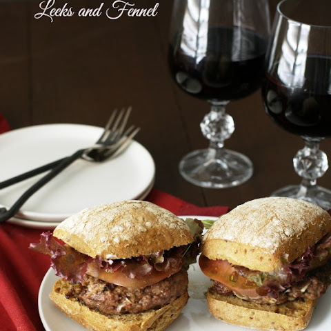 Lamb Burgers with Leeks and Fennel